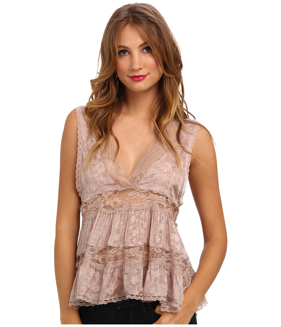 Free People - Deep V Trapeze Cami (Light Taupe) Women's Blouse