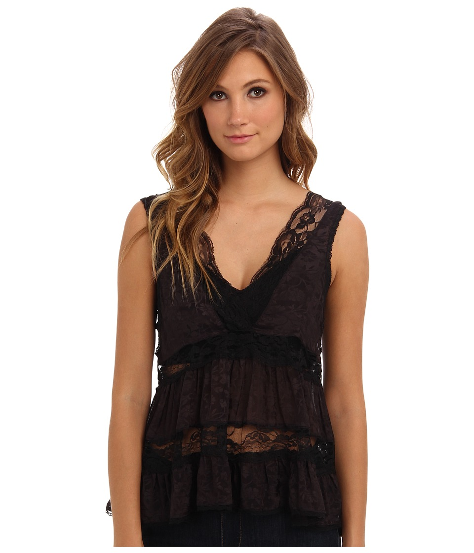 Free People - Deep V Trapeze Cami (Washed Black) Women's Blouse