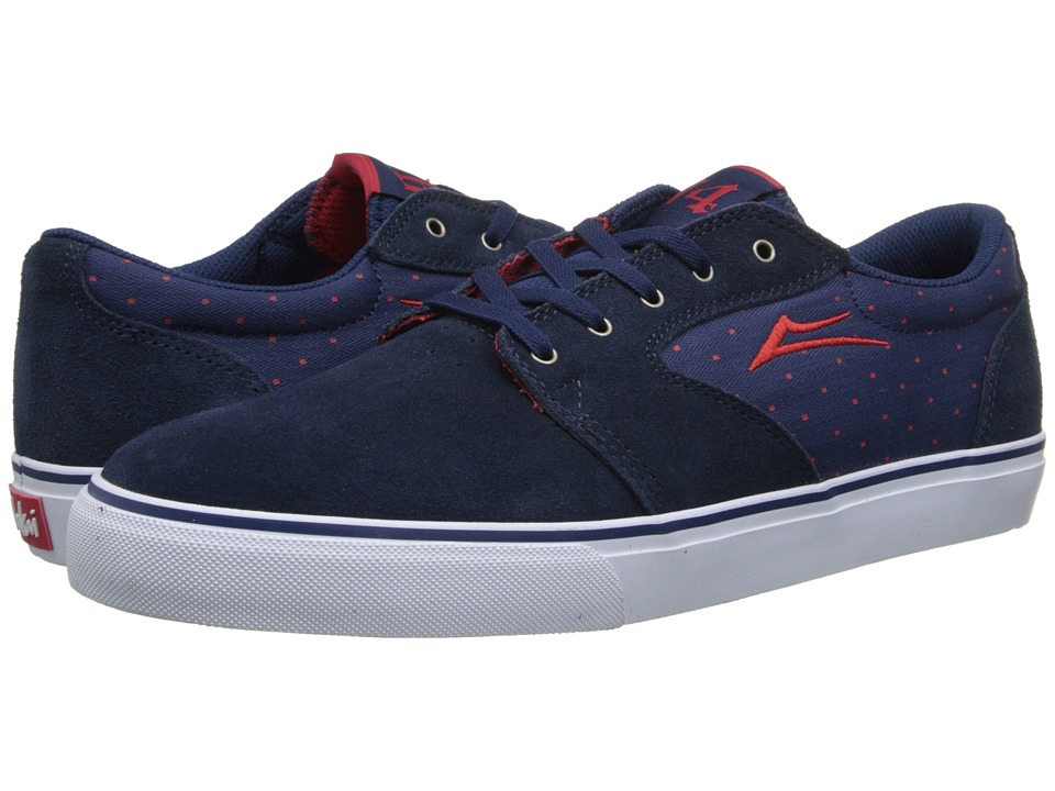 Lakai - Fura x Chocolate 20 Year (Navy Suede) Men's Skate Shoes