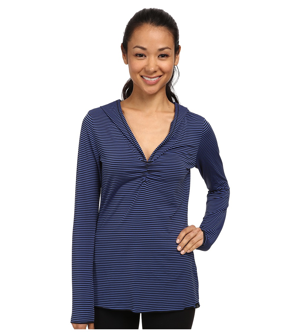 Prana - Perry Stripe Pullover (Blue Jay) Women's Long Sleeve Pullover