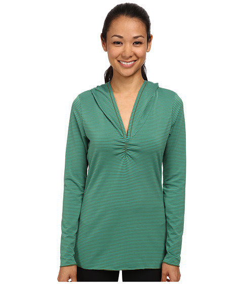 Prana - Perry Stripe Pullover (Dynasty Green) Women