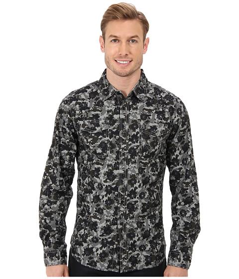 Request - Milton L/S Shirt (Grey) Men's Long Sleeve Button Up