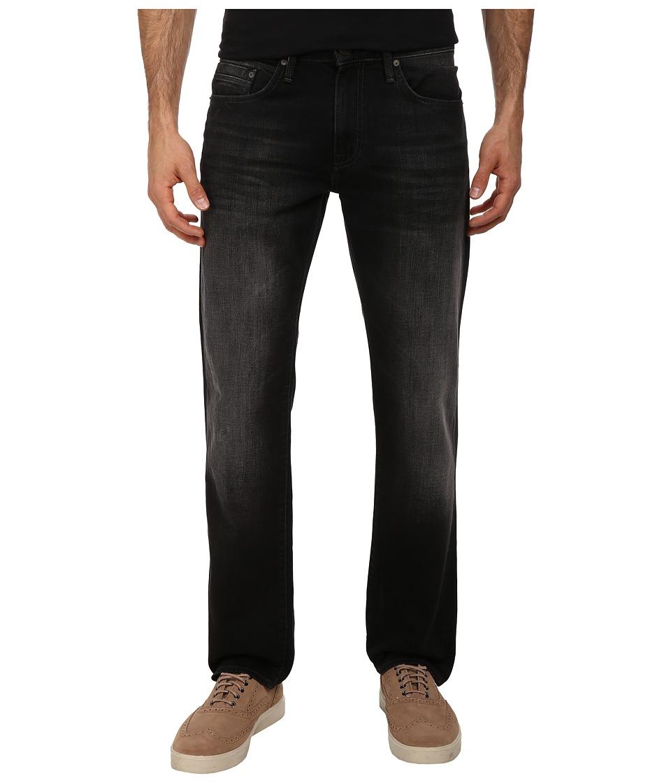 Mavi Jeans - Zach Regular Rise Straight Leg in Black Brushed Yaletown (Black Brushed Yaletown) Men's Jeans
