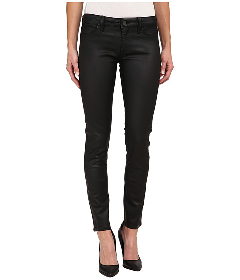 Mavi Jeans - Adriana Midrise Super Skinny in Black Coated (Black Coated) Women