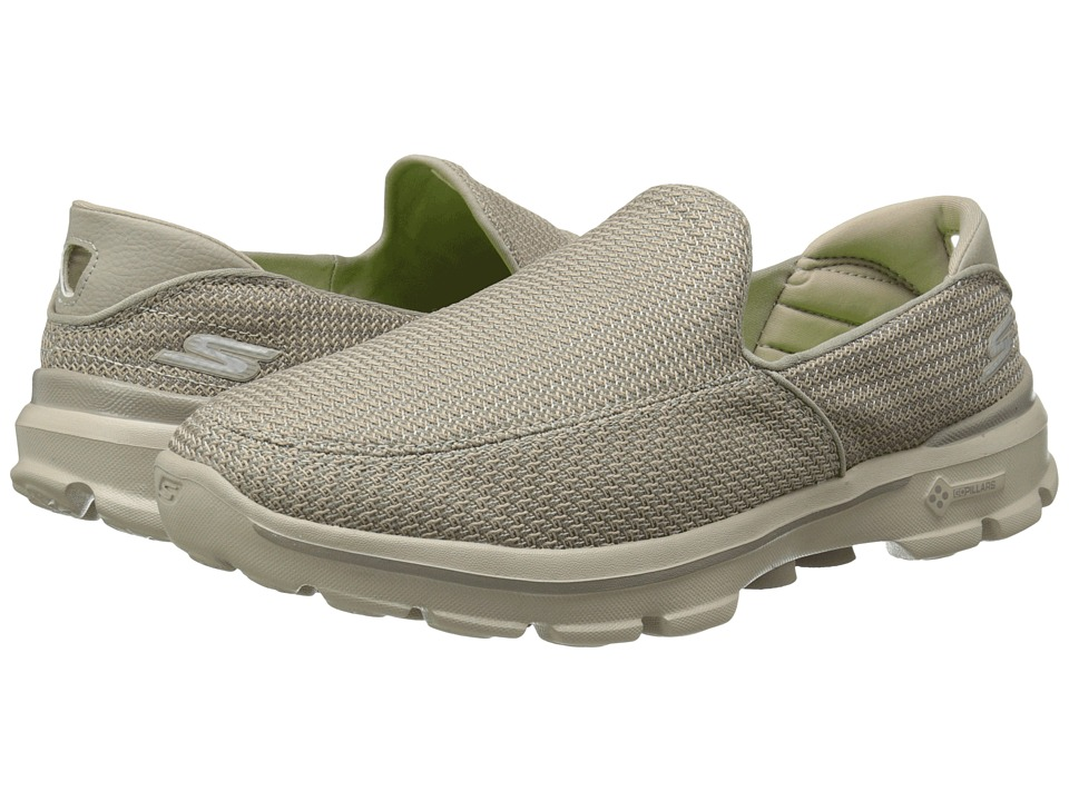 SKECHERS Performance - Go Walk 3 (Stone) Men's Slip on Shoes