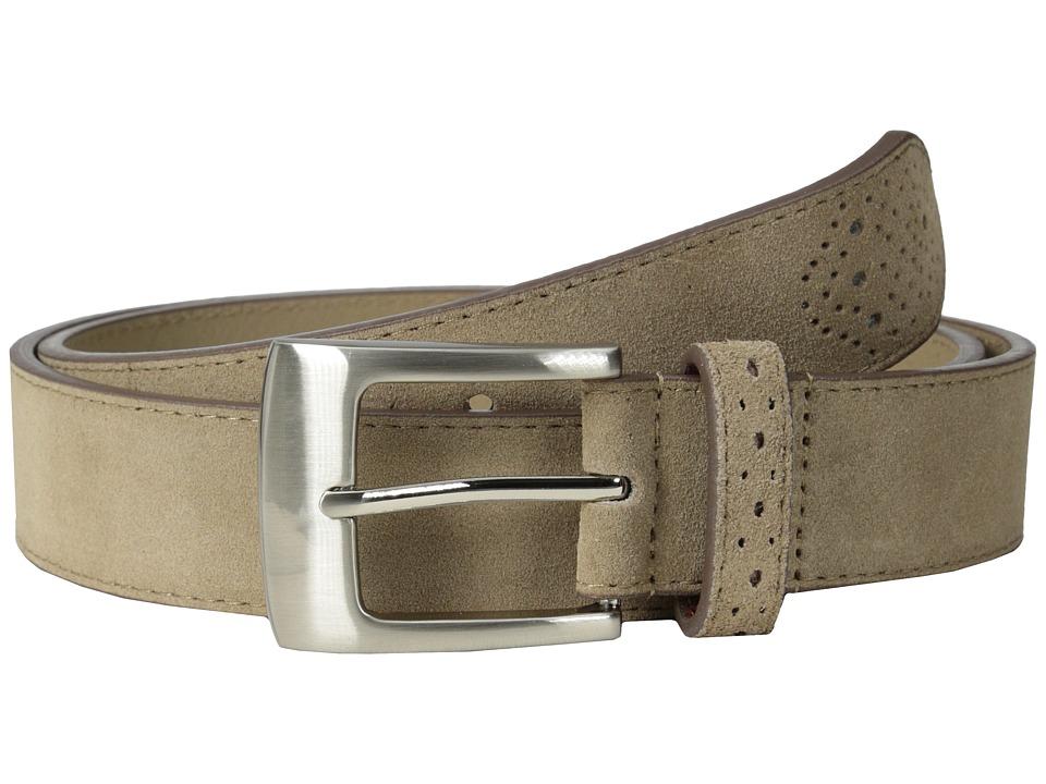 Stacy Adams - 32mm Genuine Suede Leather (Sand) Men's Belts