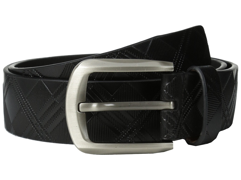 Stacy Adams - 38mm Genuine Leather with Crisscross Design (Black) Men's Belts