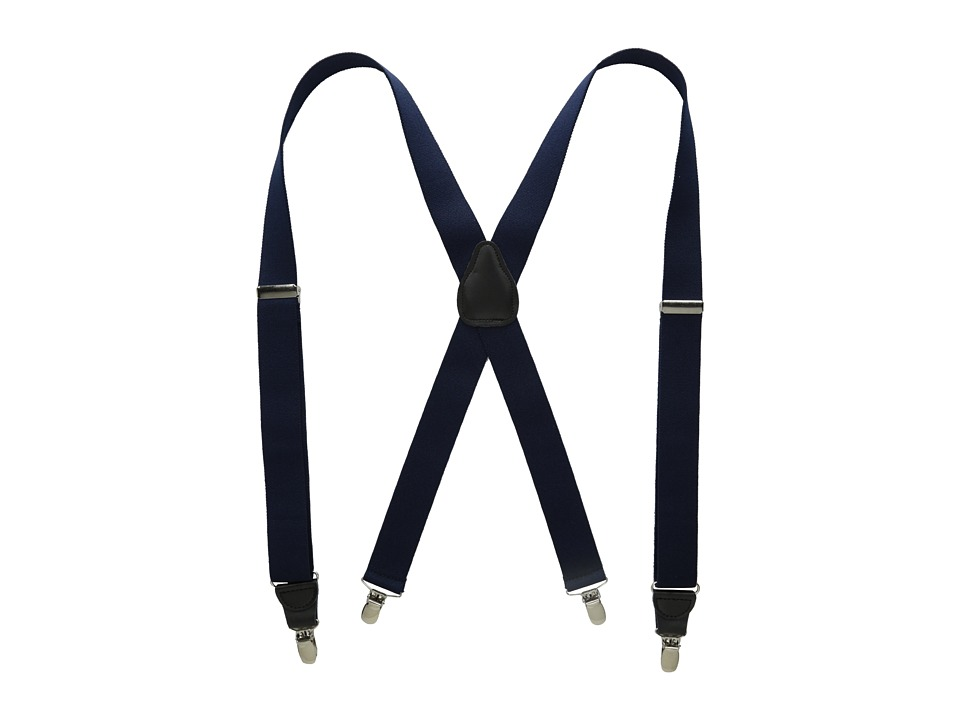 Stacy Adams - Clip On Suspenders (Navy) Wallet