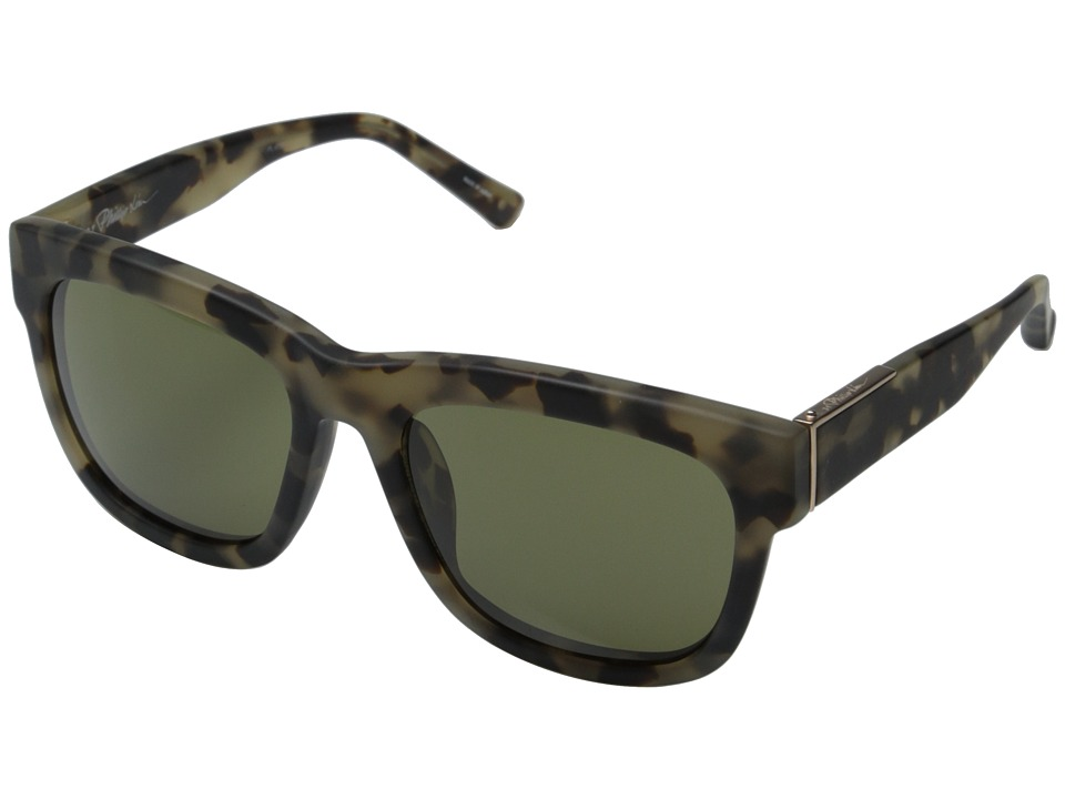 3.1 Phillip Lim - PL6C10SUN (Frosted Khaki/Tortoise/Brown) Fashion Sunglasses