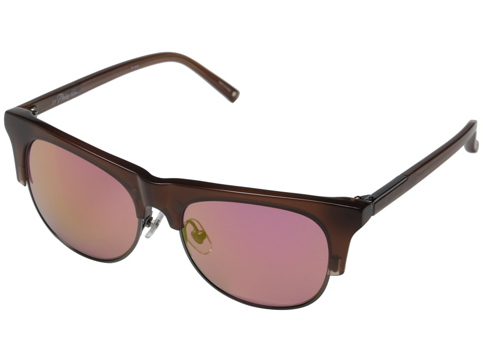 3.1 Phillip Lim - PL40C5SUN (Mahogany/Gunmetal/Metallic Pink) Fashion Sunglasses