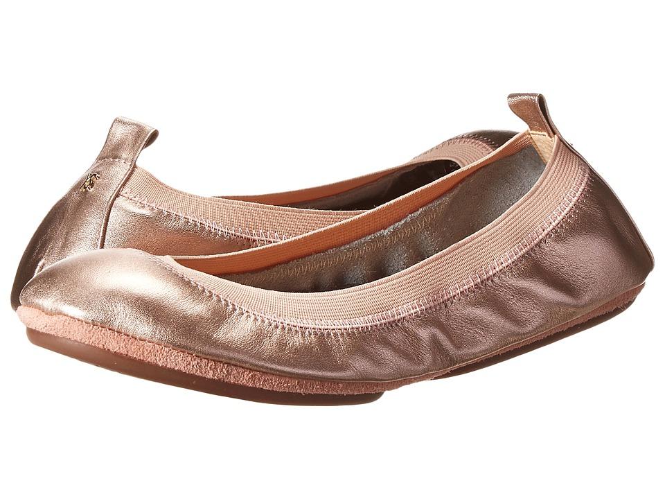 Yosi Samra - Samara Metallic Leather (Rose Gold) Women's Flat Shoes