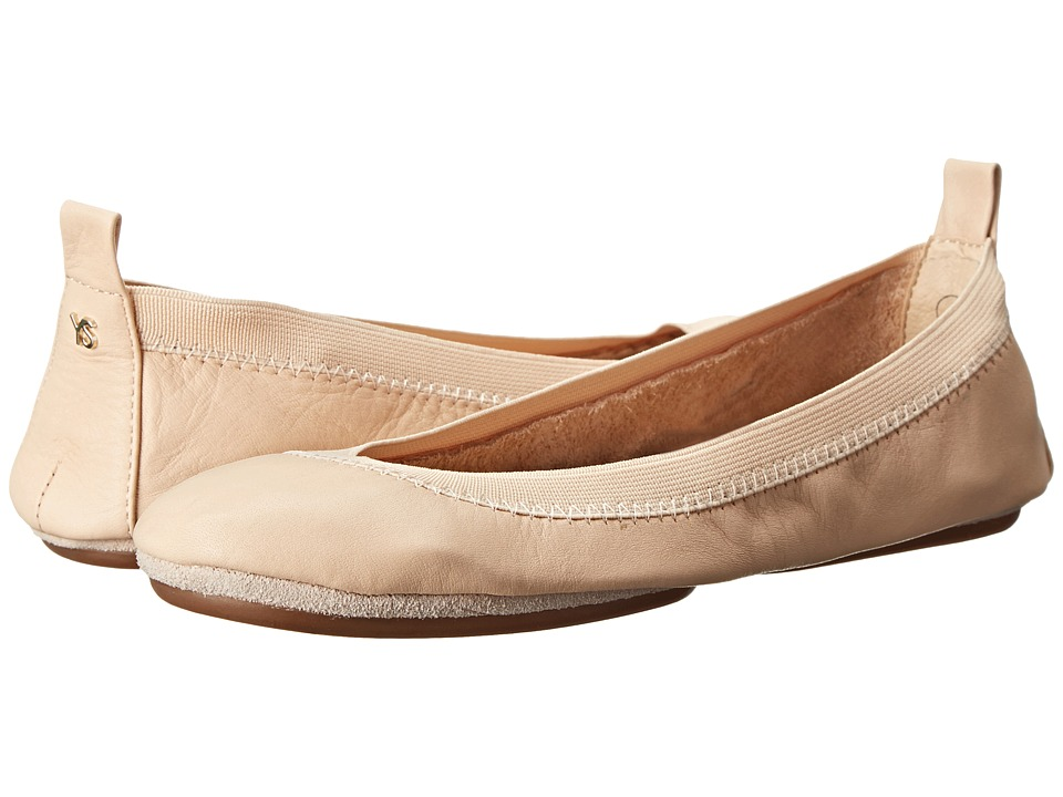 Yosi Samra - Alsina Leather Ballet Flat (Nude) Women's Flat Shoes