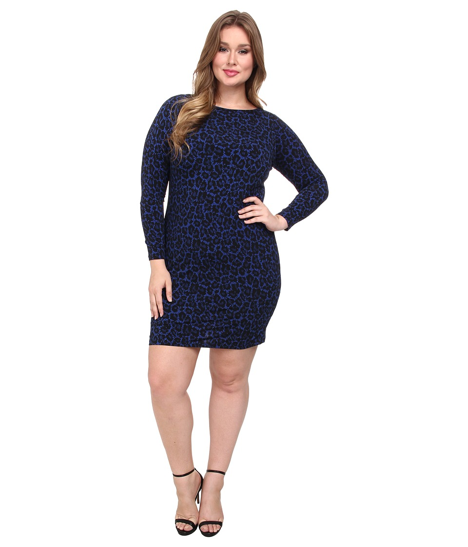 MICHAEL Michael Kors - Plus Size Ellensburg Boatneck Dress (Amalfi Blue) Women's Dress