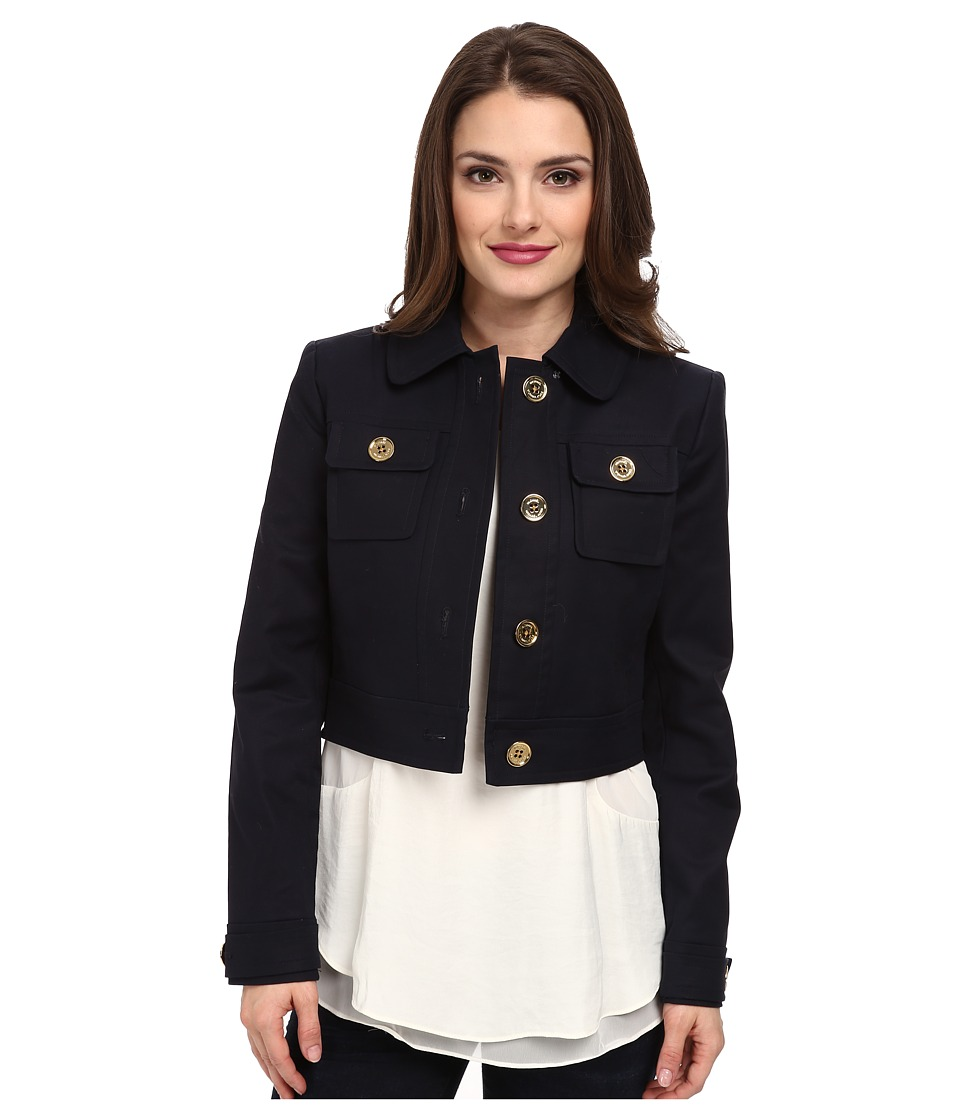 MICHAEL Michael Kors - Petite Cropped Jacket (New Navy) Women