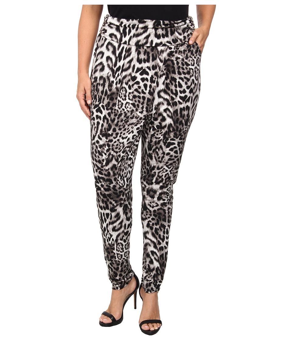 MICHAEL Michael Kors - Plus Size Fremont Cross Over Pant (Black) Women's Casual Pants