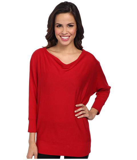 MICHAEL Michael Kors - Cowl Neck Zip Shoulder Sweater (Red Blaze) Women's Sweater