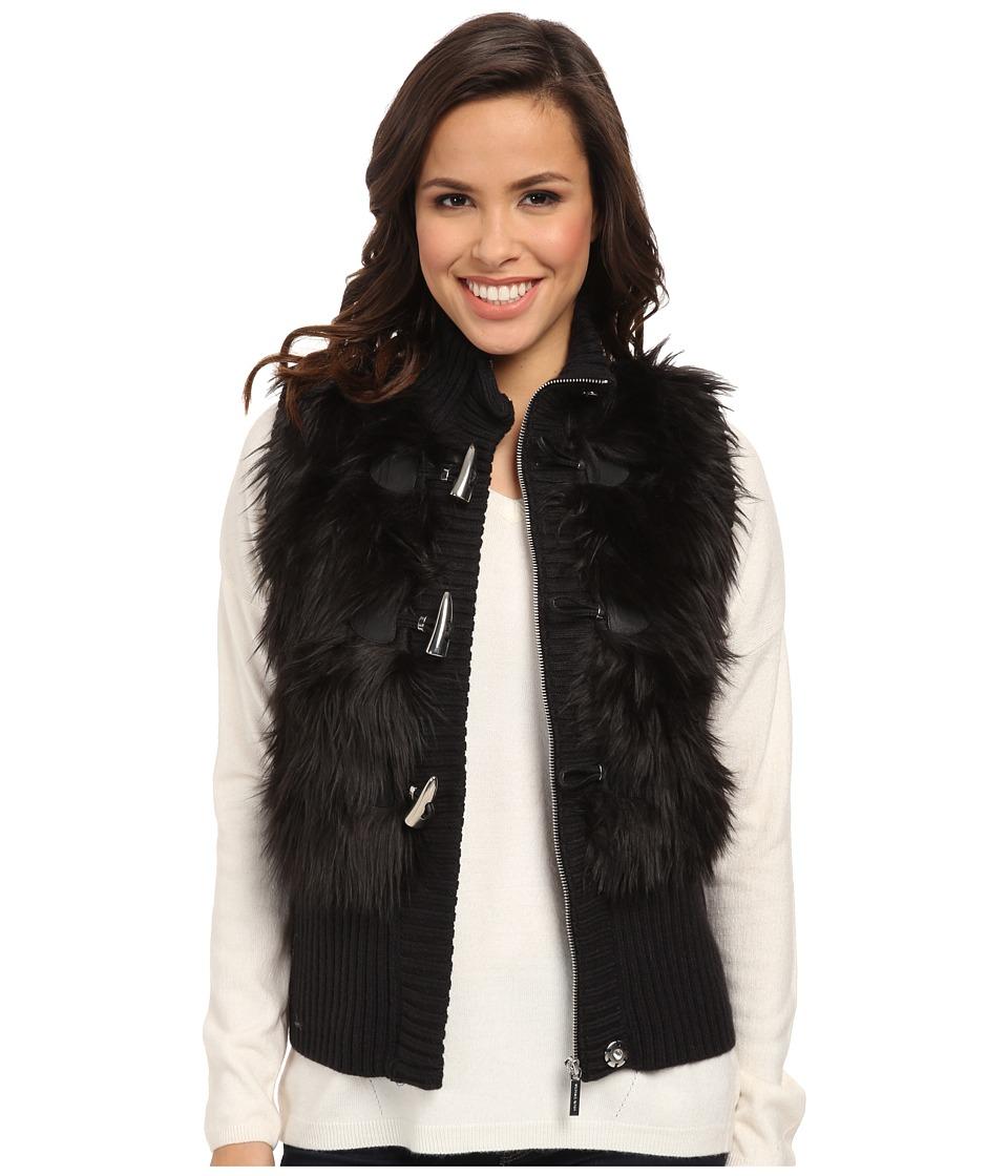 MICHAEL Michael Kors - Fur Toggle Vest (Black) Women's Vest