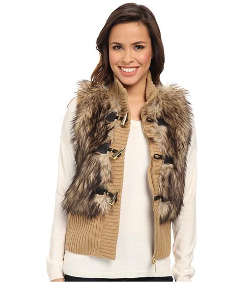 MICHAEL Michael Kors - Fur Toggle Vest (Dark Camel) Women's Vest