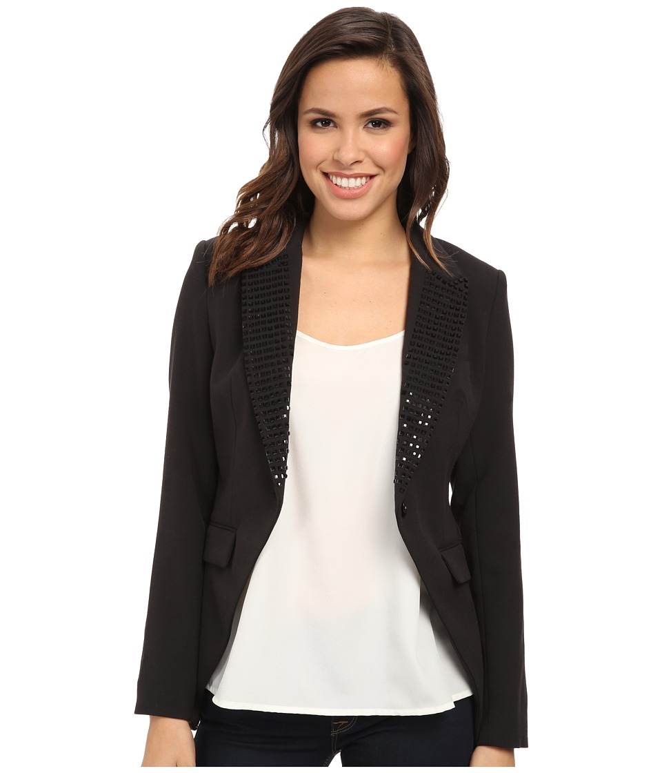 michael michael kors studded tux blazer black women 39 s jacket. Black Bedroom Furniture Sets. Home Design Ideas