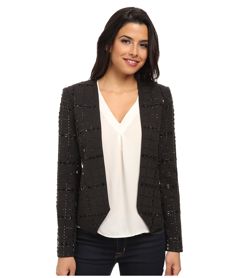 MICHAEL Michael Kors - Beaded Jacket (Black) Women's Coat