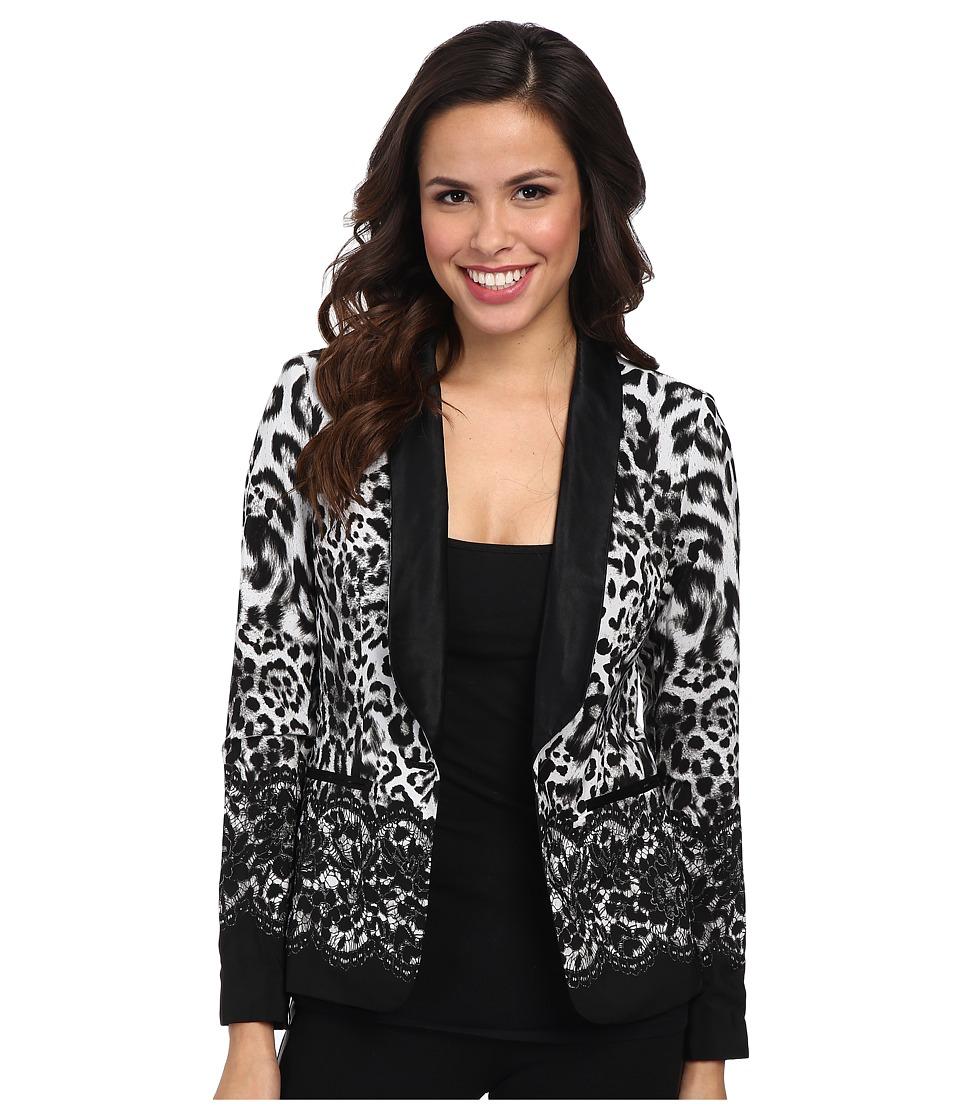 MICHAEL Michael Kors - Printed Soft Blazer (White) Women's Jacket