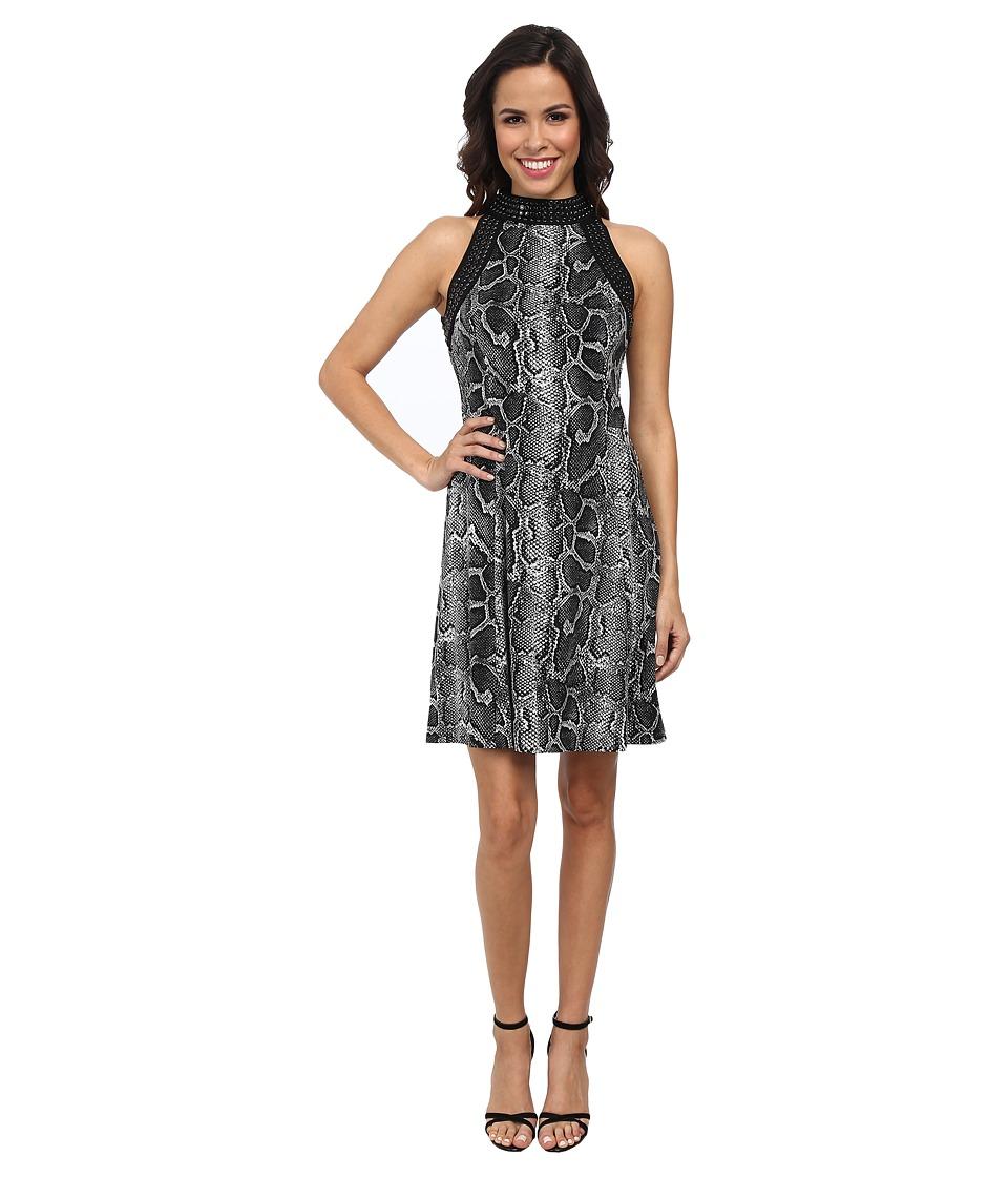 MICHAEL Michael Kors - Greenwood Stud Ponte Dress (Sterling) Women's Dress