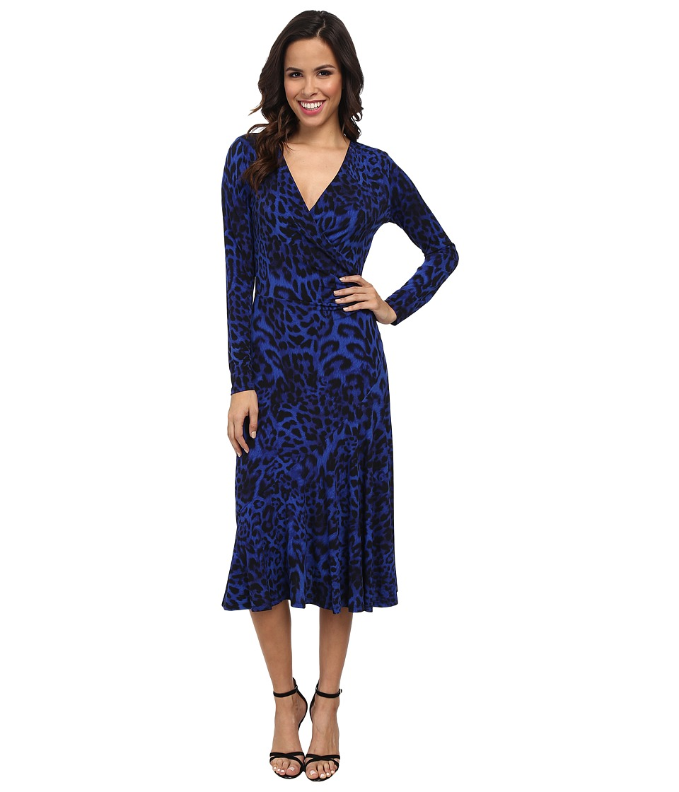 MICHAEL Michael Kors - Freemont Wrap Front Dress (Amalfi Blue) Women