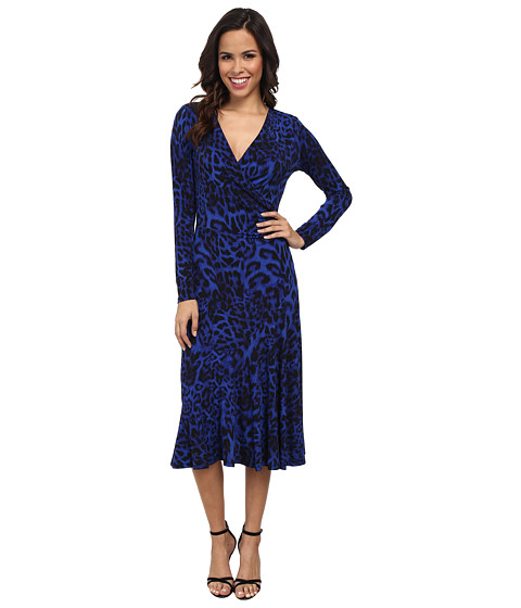 MICHAEL Michael Kors - Freemont Wrap Front Dress (Amalfi Blue) Women's Dress