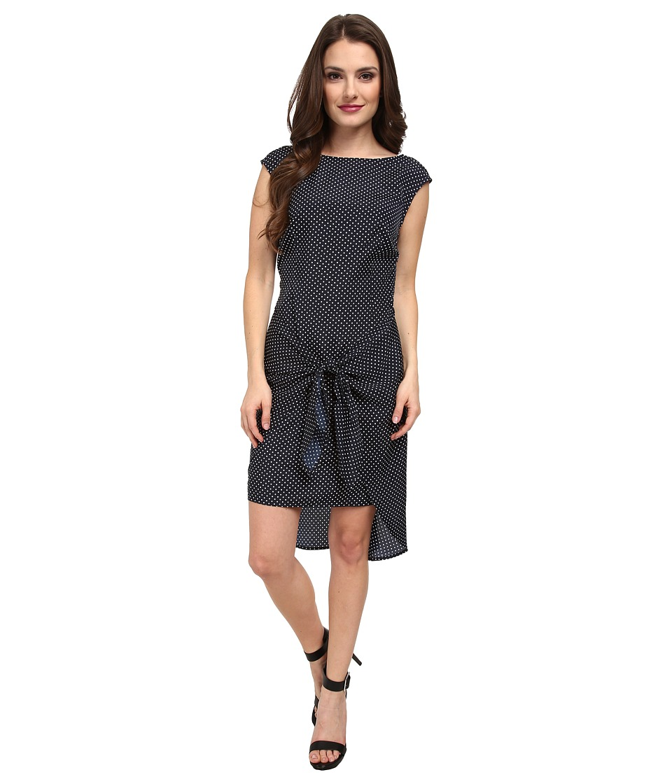 MICHAEL Michael Kors - Petite Adriatic Dot Tie Dress (New Navy) Women