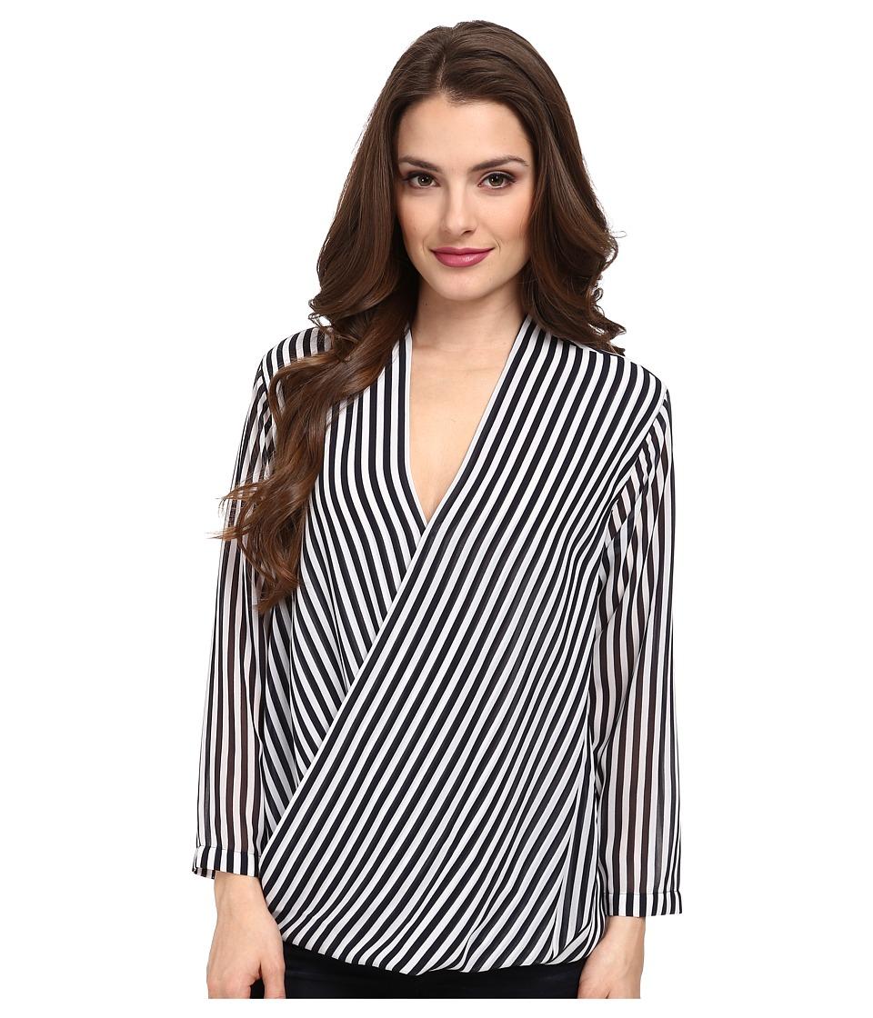 MICHAEL Michael Kors - Petite Boden Stripe Blouse (New Navy) Women's Blouse plus size,  plus size fashion plus size appare