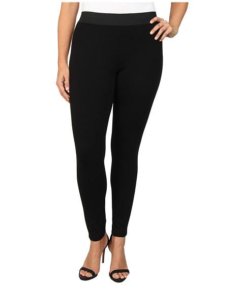MICHAEL Michael Kors - Plus Size Leather Panel Pant (Black) Women