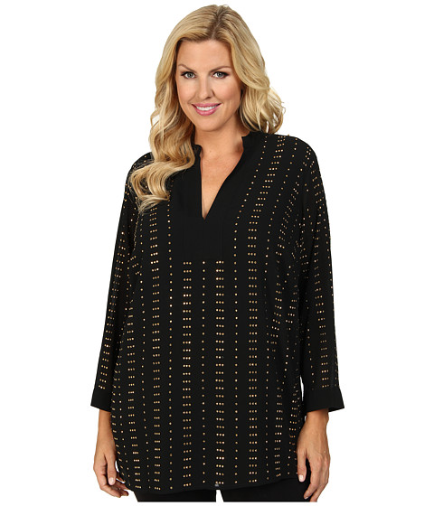 MICHAEL Michael Kors - Plus Size Studded Tunic (Black) Women's Blouse