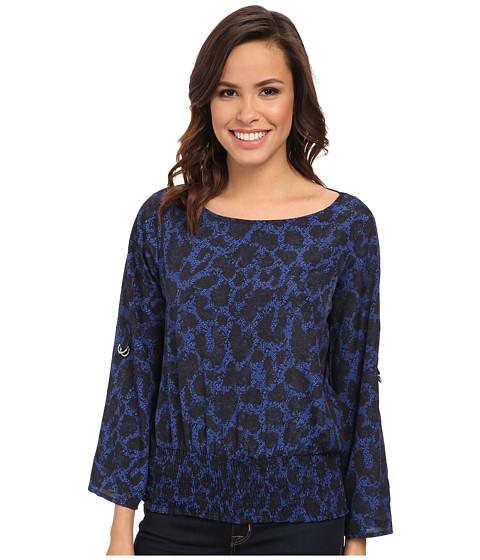 MICHAEL Michael Kors - Brementon Kimono Top (Amalfi Blue) Women's Long Sleeve Pullover
