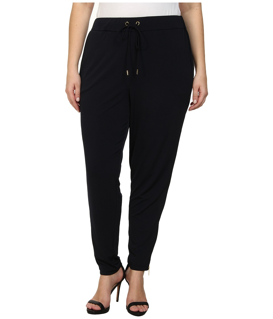 MICHAEL Michael Kors - Plus Size Side Zip Pants (New Navy) Women's Casual Pants