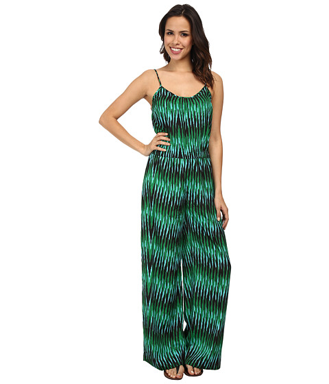 MICHAEL Michael Kors - Sumatra Print Jumpsuit (Spring Green) Women's Jumpsuit & Rompers One Piece