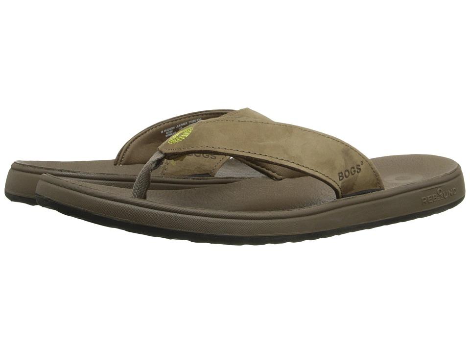 Bogs - Hudson Leather Flip (Cocoa) Women's Sandals