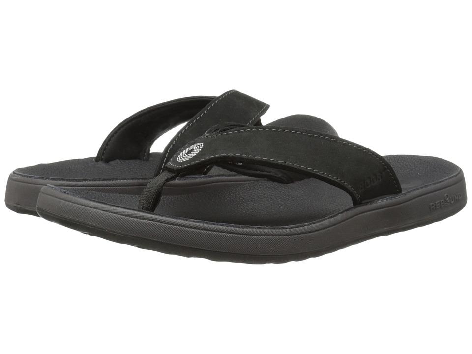 Bogs Hudson Leather Flip (Black) Women