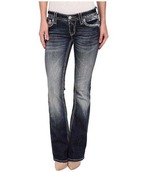 Rock Revival - Kailyn B8 Slant Back Pocket Boot Cut Jean (Dark Blue) Women's Jeans