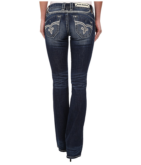 Rock Revival - Adele B400 No Flap Pocket Boot Cut Jean (Medium Blue) Women's Jeans