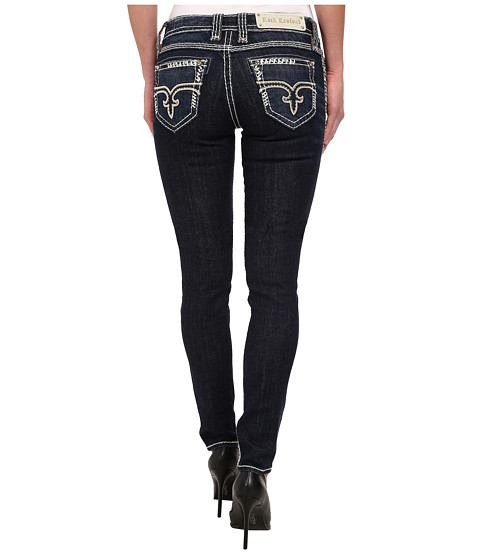 Rock Revival - Erin S400 Embroidery No Flap Skinny Jean (Dark Blue) Women's Jeans