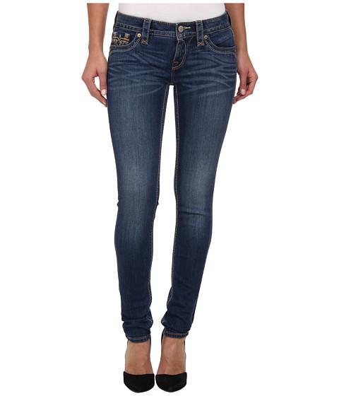Rock Revival - Jessica S400 Colored Stitch Skinny Jean (Medium Blue) Women