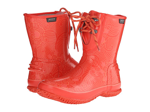 Bogs - Urban Farmer 2-Eye Lace Batik (Strawberry) Women's Waterproof Boots