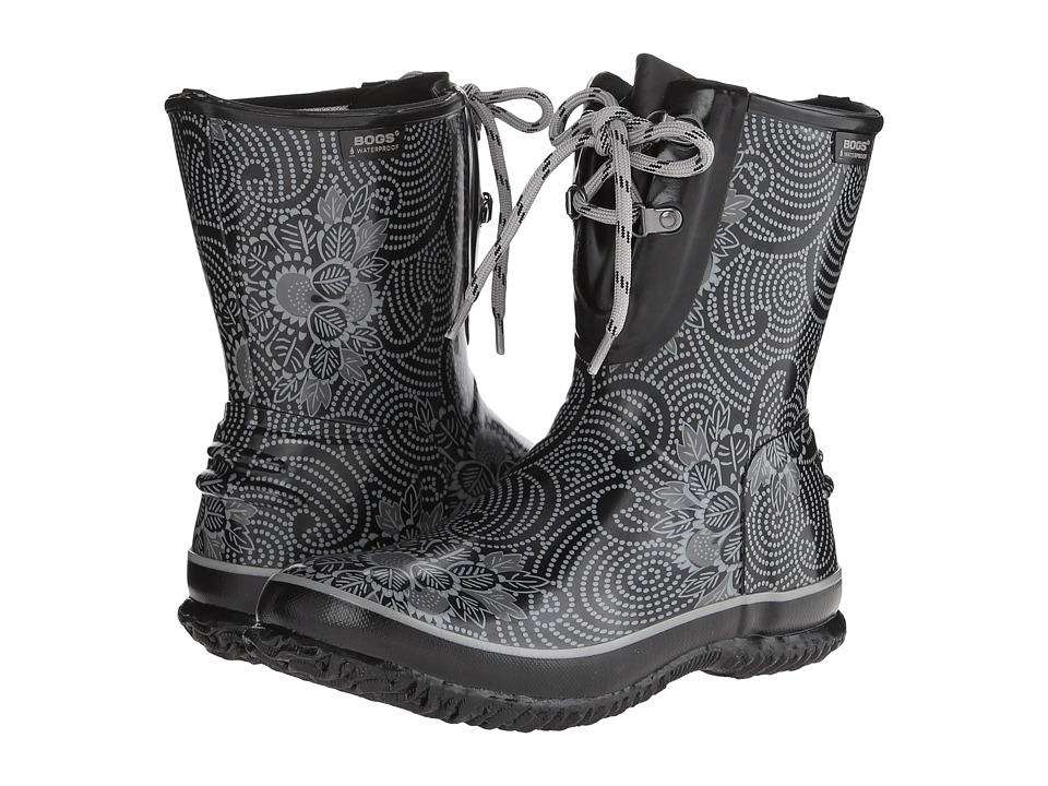 Bogs - Urban Farmer 2-Eye Lace Batik (Black) Women's Waterproof Boots