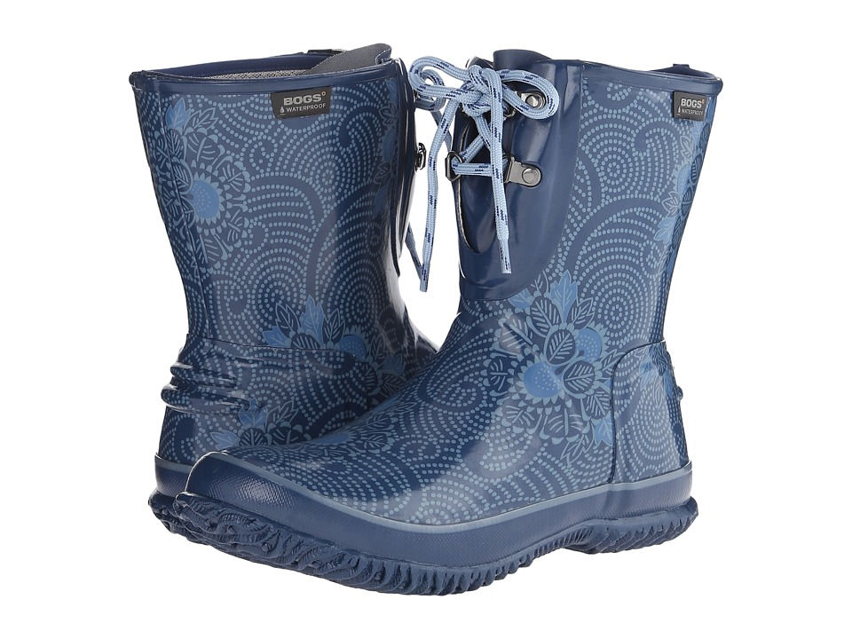 Bogs - Urban Farmer 2-Eye Lace Batik (Blue) Women's Waterproof Boots
