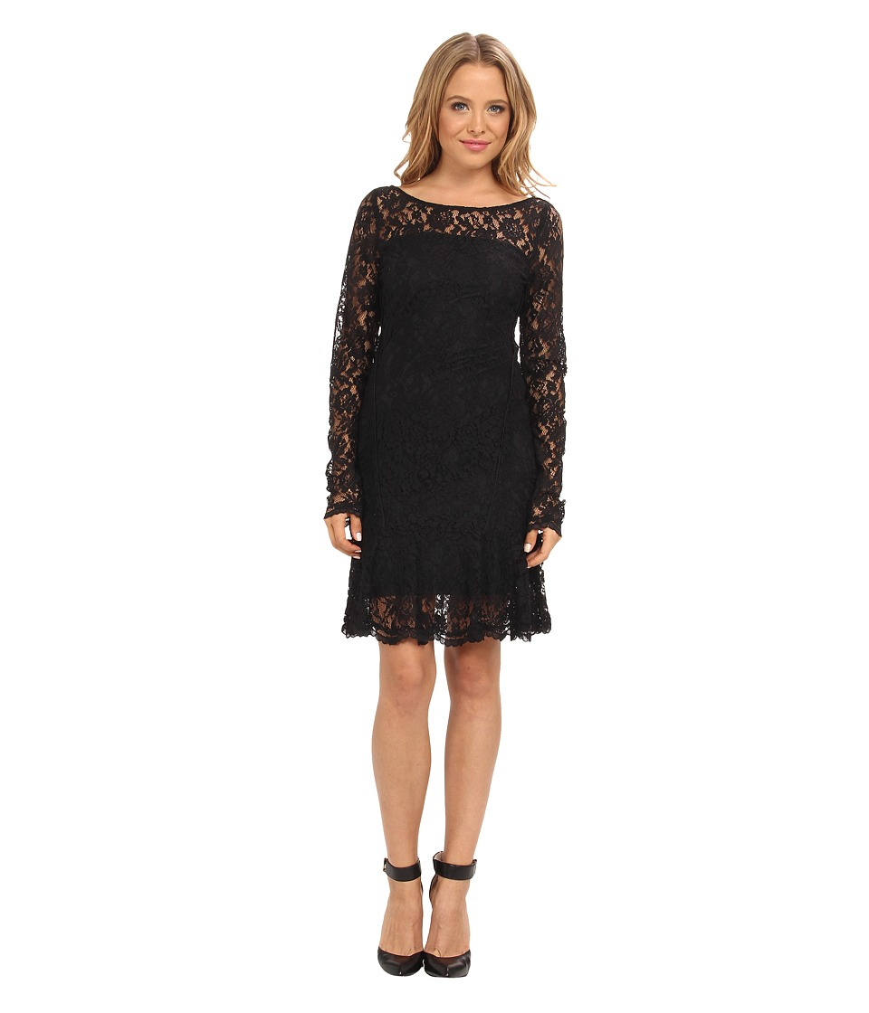 Hale Bob - Divine Rapture Lace Dress (Black) Women's Dress