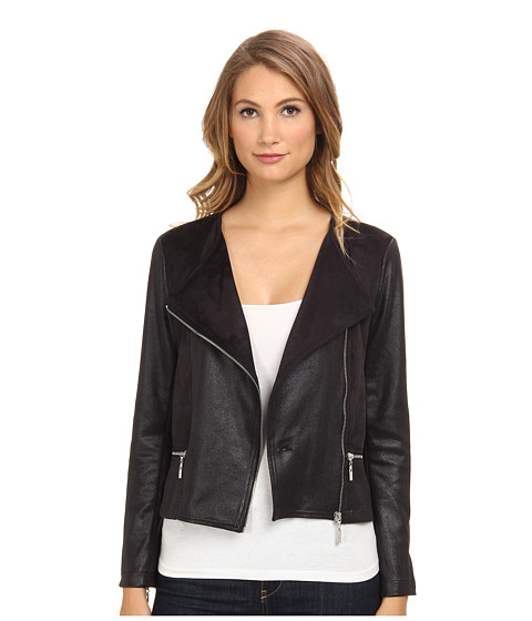 Hale Bob - Ultrasuede Jacket (Black) Women's Jacket