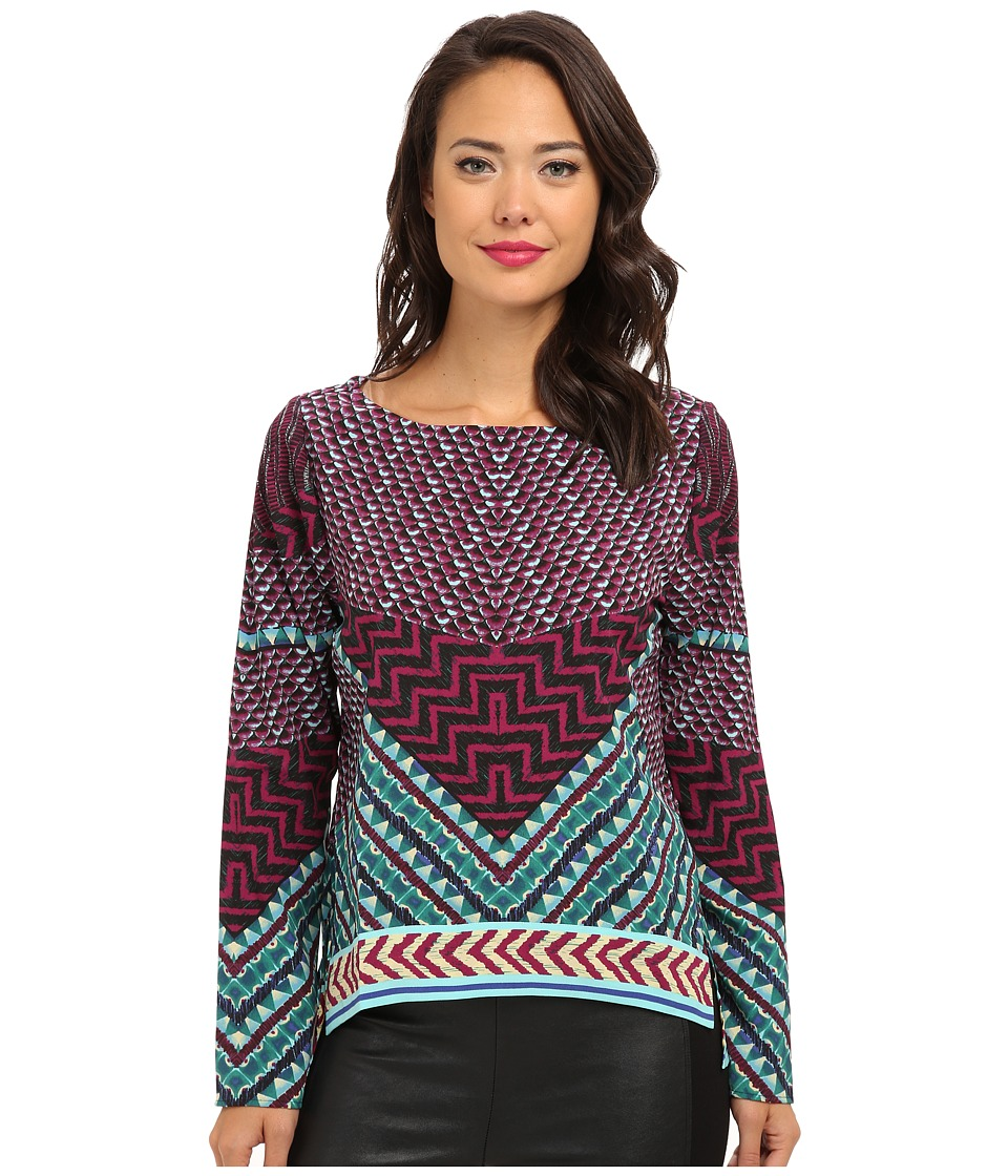 Hale Bob - Fall Into Tribal Top (Purple) Women's Long Sleeve Pullover