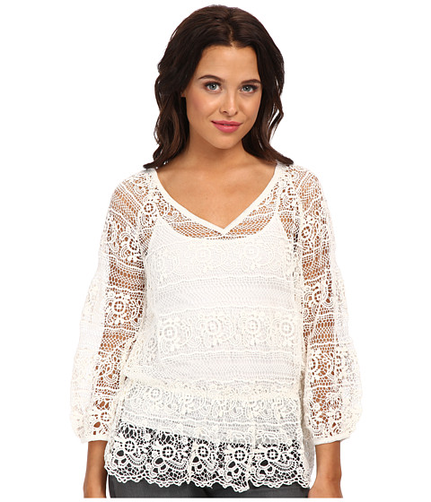 Free People - Saturdays Lace Top (Ivory) Women's Clothing