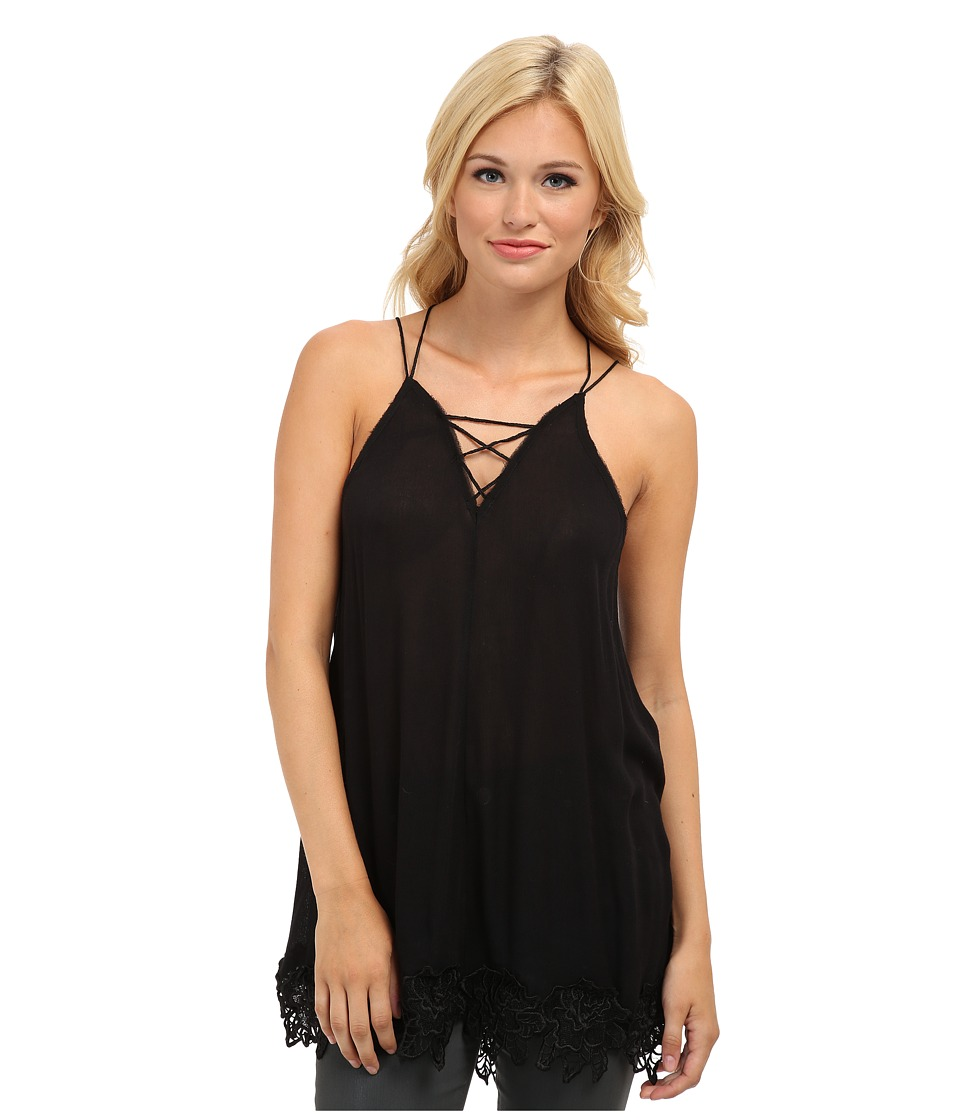Free People - Wicked Spell Top (Black) Women's Clothing