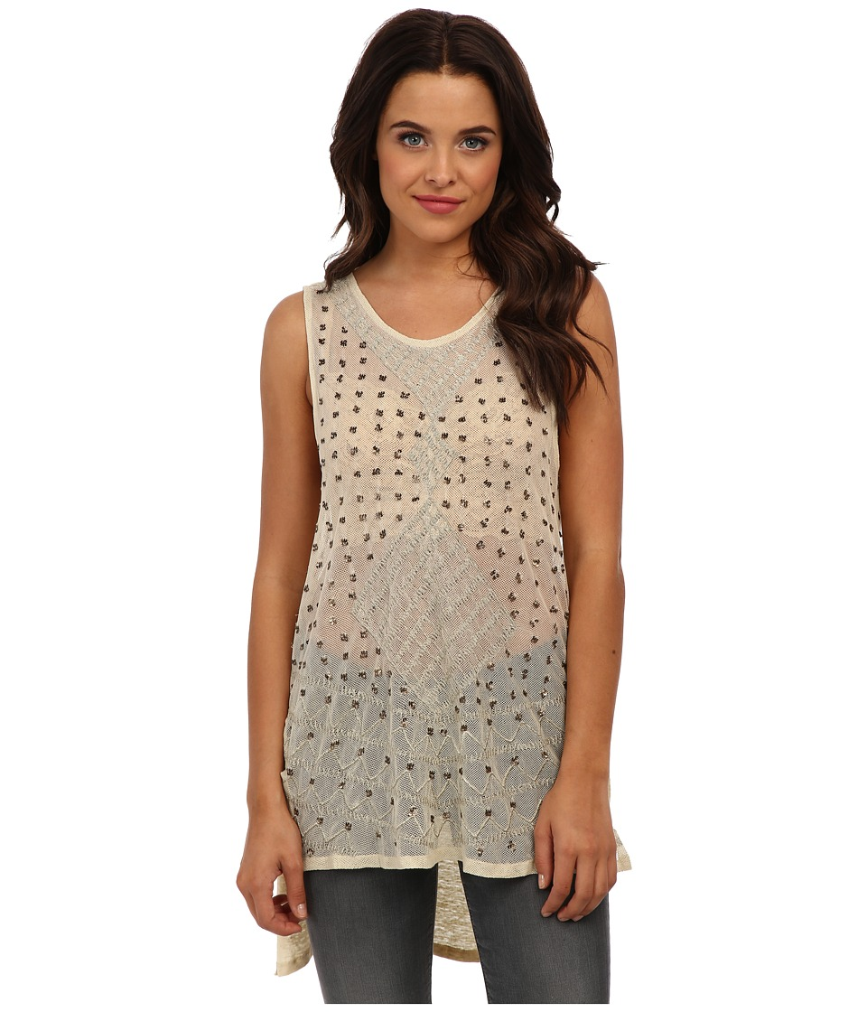 Free People - Embellished Top (Tea) Women's Clothing